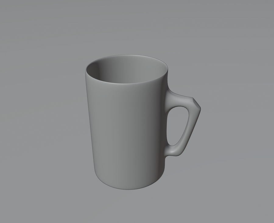 Simple Mug royalty-free 3d model - Preview no. 3