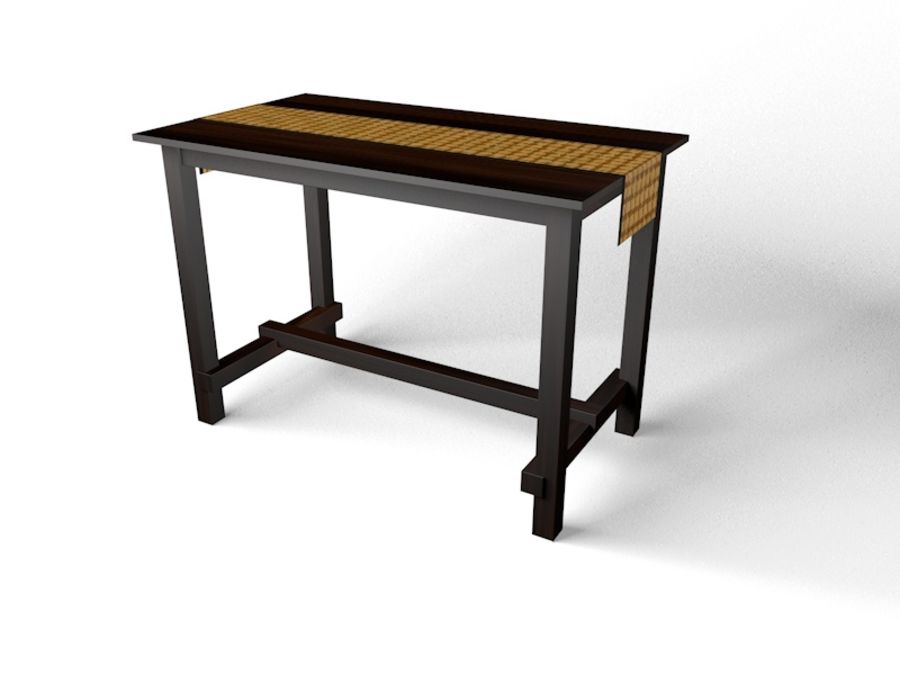 Tall table royalty-free 3d model - Preview no. 1