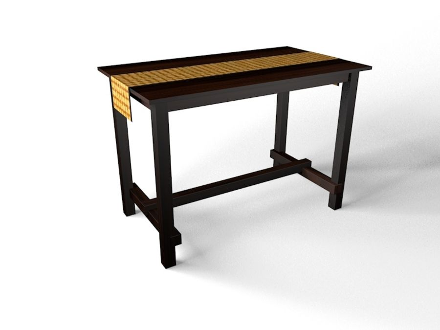 Tall table royalty-free 3d model - Preview no. 3
