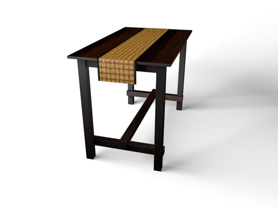 Tall table royalty-free 3d model - Preview no. 2
