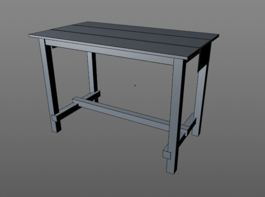 Tall table royalty-free 3d model - Preview no. 4