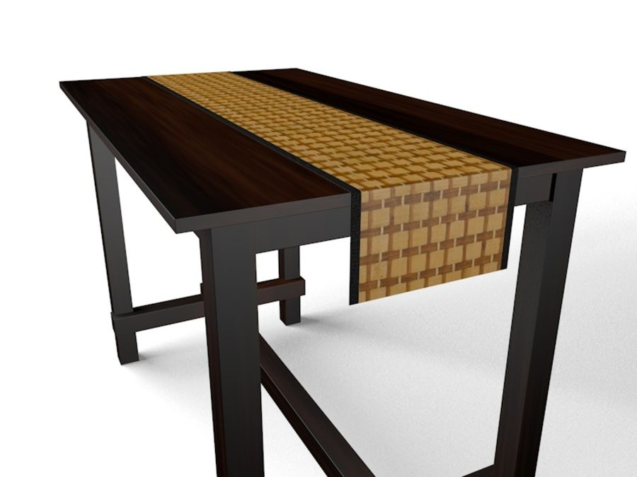 Tall table royalty-free 3d model - Preview no. 5