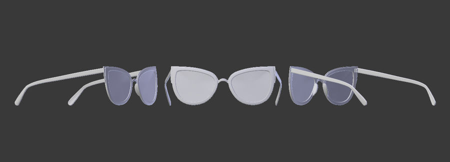 Sunglasses royalty-free 3d model - Preview no. 3