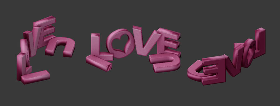 Valentine Prop Sing royalty-free modelo 3d - Preview no. 2