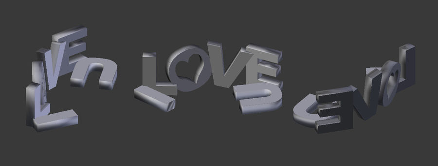 Valentine Prop Sing royalty-free modelo 3d - Preview no. 3