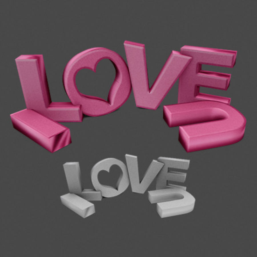 Valentine Prop Sing royalty-free modelo 3d - Preview no. 1