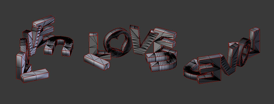 Valentine Prop Sing royalty-free modelo 3d - Preview no. 4