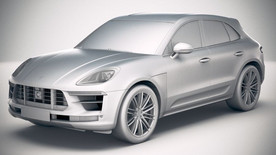 Porsche Macan Turbo 2019 royalty-free 3d model - Preview no. 18