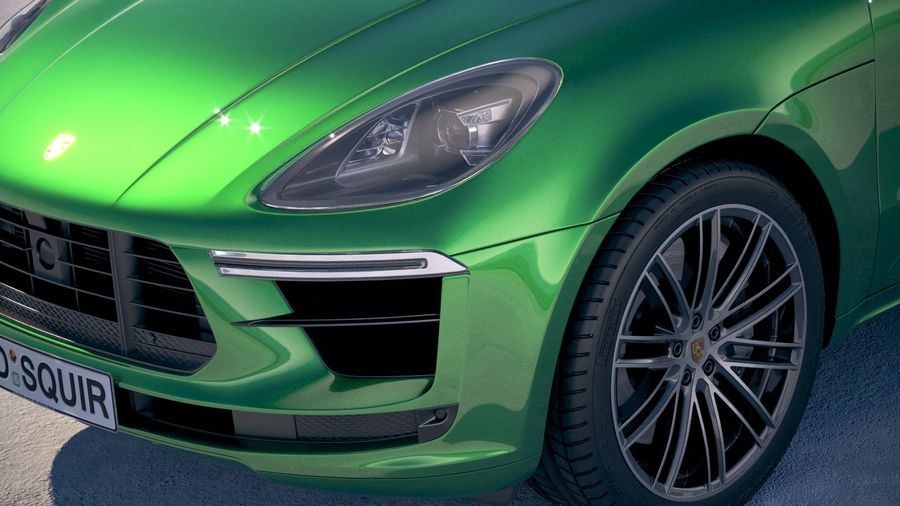 Porsche Macan Turbo 2019 royalty-free 3d model - Preview no. 3