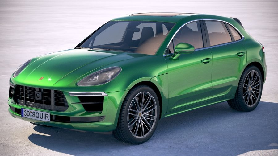 Porsche Macan Turbo 2019 royalty-free 3d model - Preview no. 1