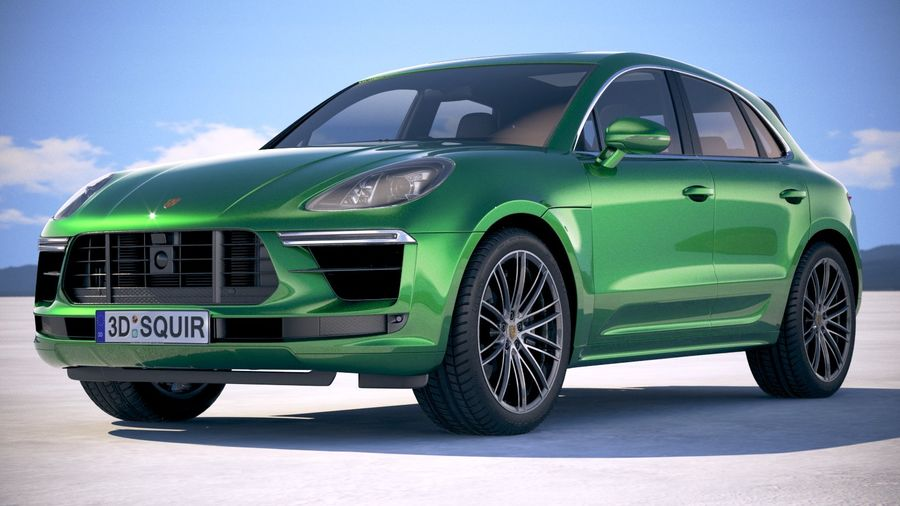 Porsche Macan Turbo 2019 royalty-free 3d model - Preview no. 13