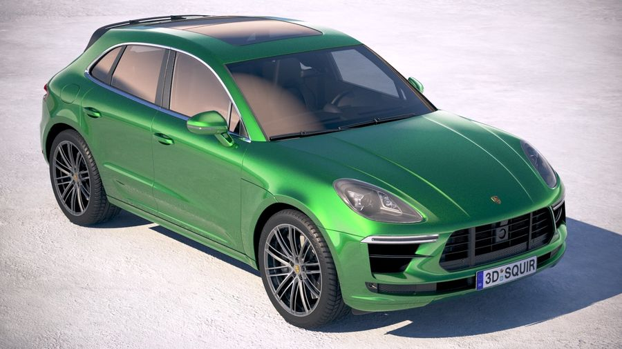 Porsche Macan Turbo 2019 royalty-free 3d model - Preview no. 12