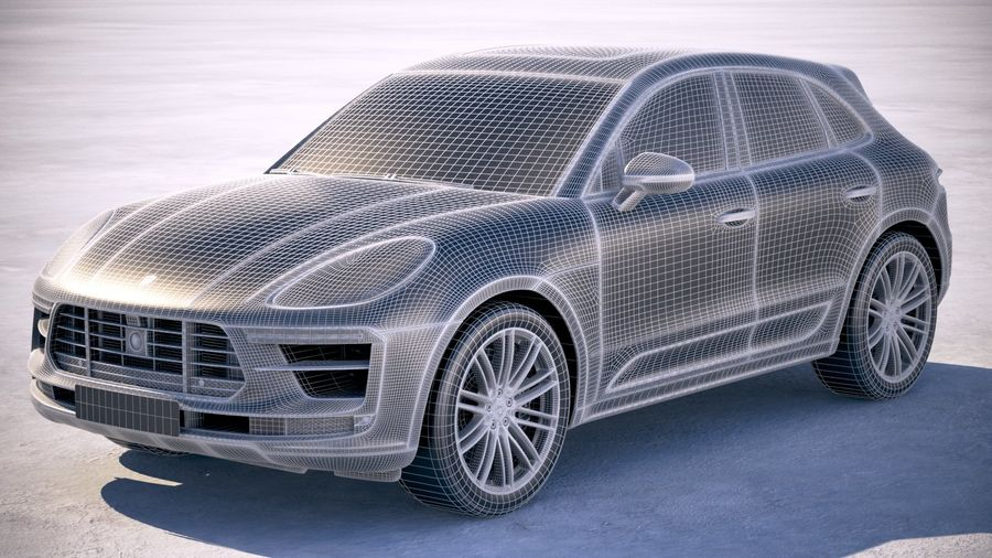 Porsche Macan Turbo 2019 royalty-free 3d model - Preview no. 25