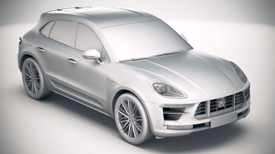Porsche Macan Turbo 2019 royalty-free 3d model - Preview no. 22