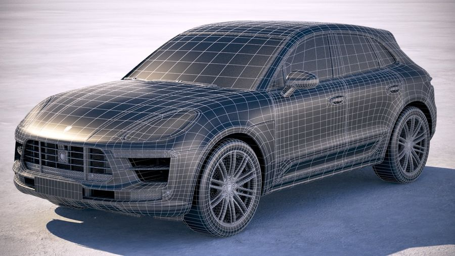 Porsche Macan Turbo 2019 royalty-free 3d model - Preview no. 27