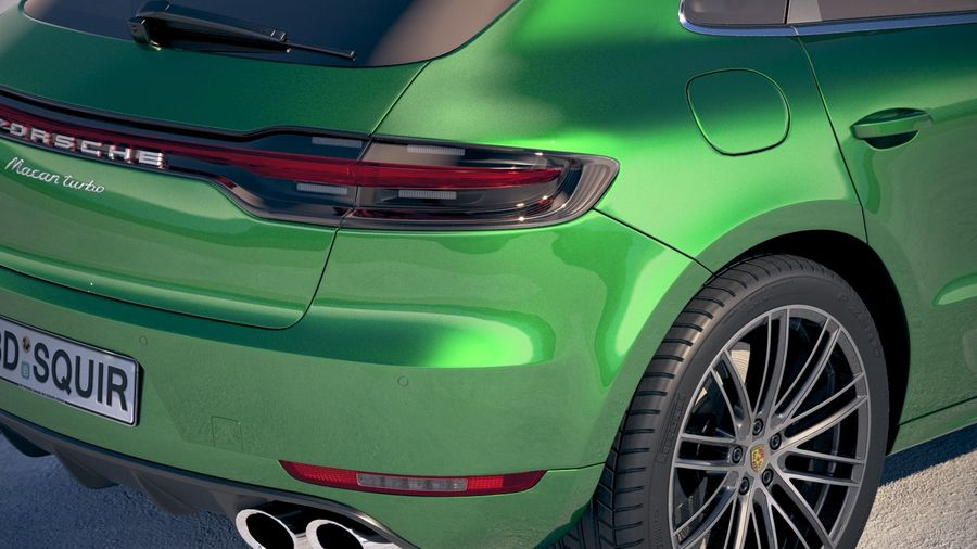 Porsche Macan Turbo 2019 royalty-free 3d model - Preview no. 4