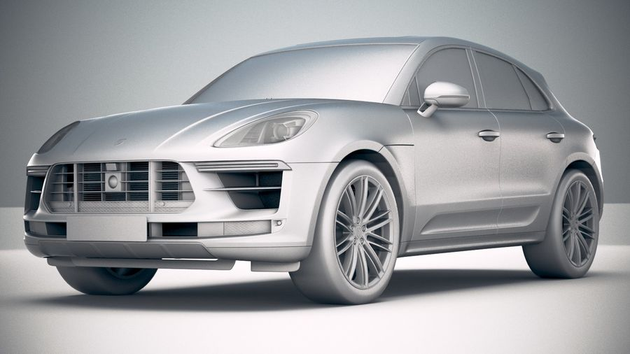 Porsche Macan Turbo 2019 royalty-free 3d model - Preview no. 23