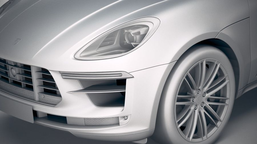 Porsche Macan Turbo 2019 royalty-free 3d model - Preview no. 19