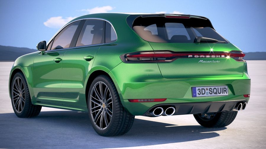 Porsche Macan Turbo 2019 royalty-free 3d model - Preview no. 14
