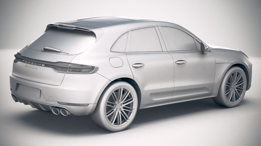 Porsche Macan Turbo 2019 royalty-free 3d model - Preview no. 21