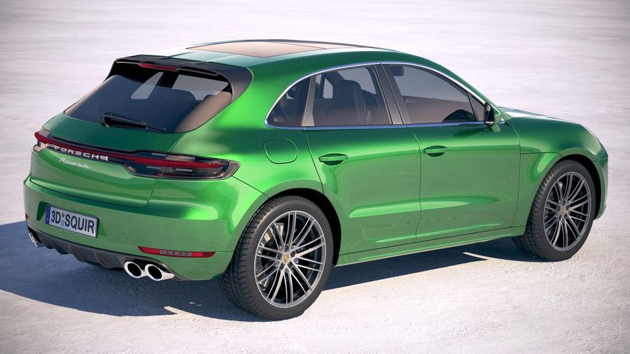 Porsche Macan Turbo 2019 royalty-free 3d model - Preview no. 5
