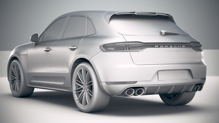Porsche Macan Turbo 2019 royalty-free 3d model - Preview no. 24