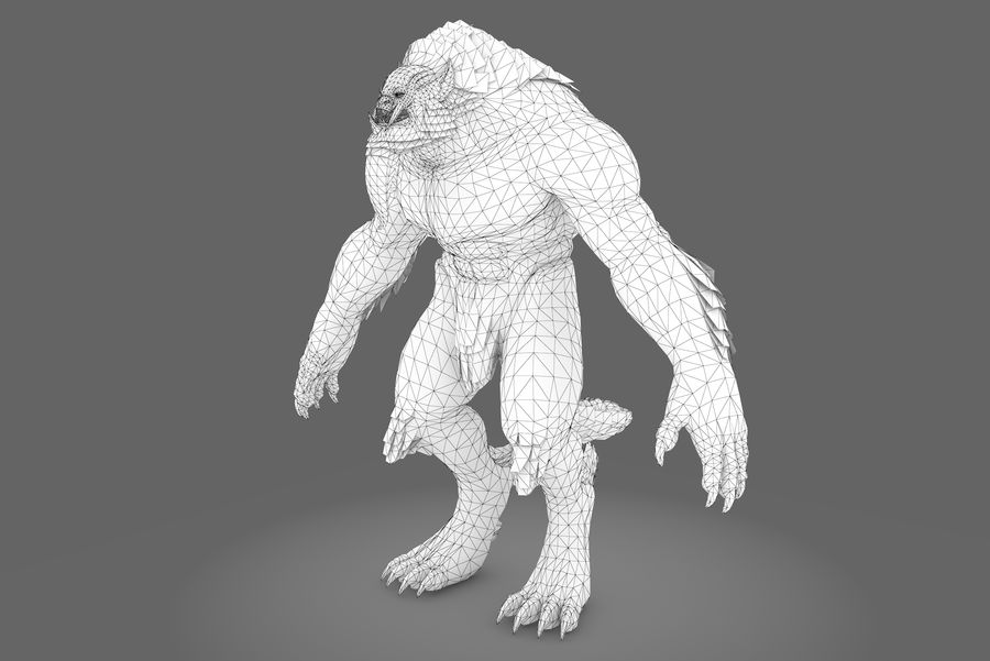 Fantasy karaktär typ 1 royalty-free 3d model - Preview no. 8