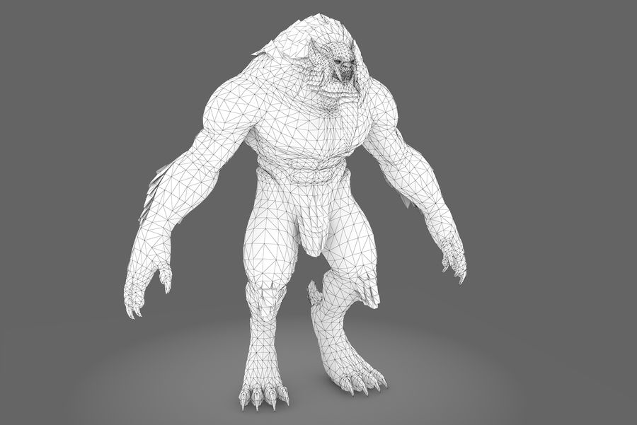 Fantasy karaktär typ 1 royalty-free 3d model - Preview no. 7