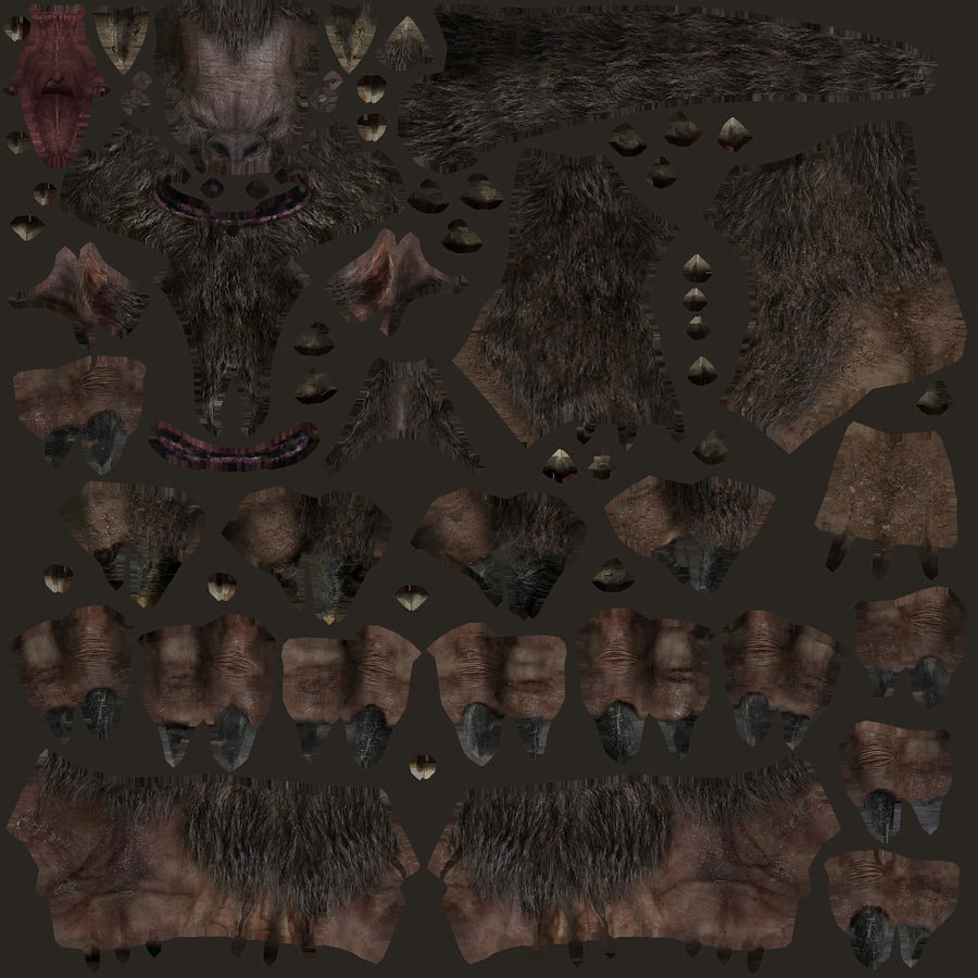 Fantasy karaktär typ 1 royalty-free 3d model - Preview no. 12