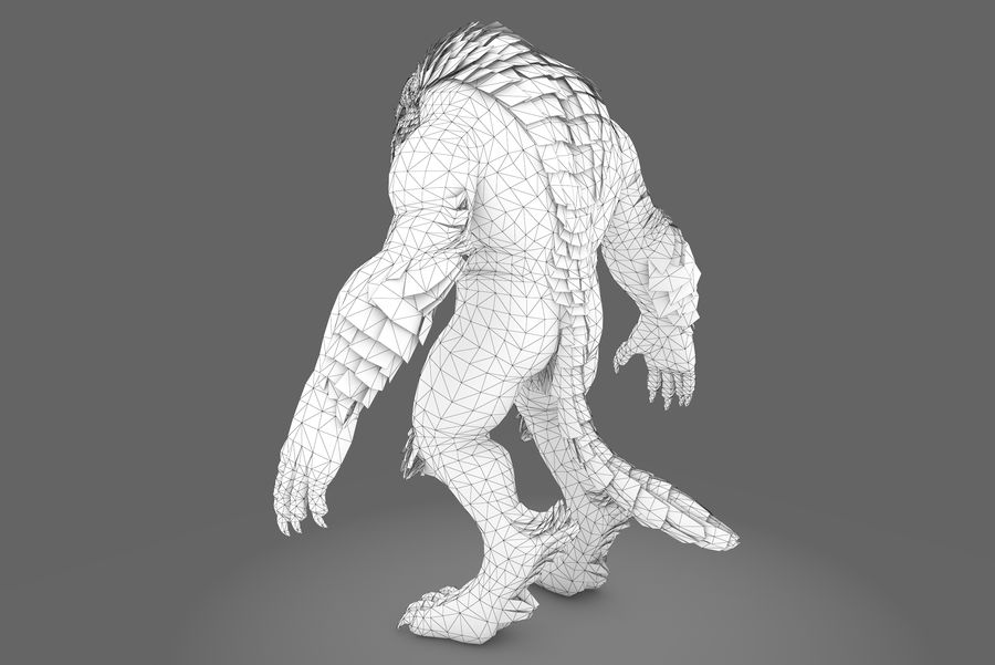 Fantasy karaktär typ 1 royalty-free 3d model - Preview no. 9