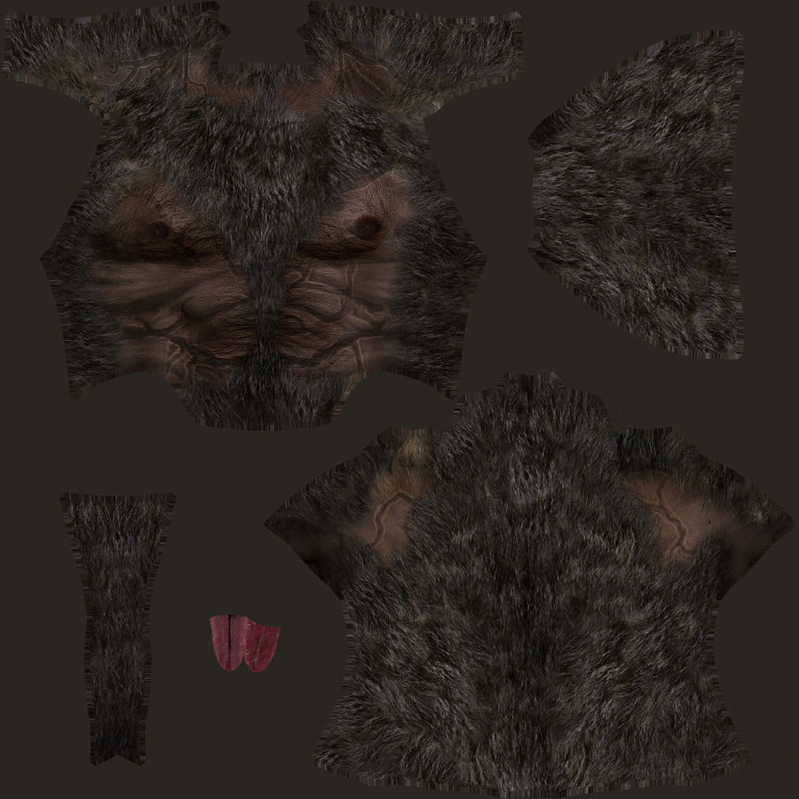 Fantasy karaktär typ 1 royalty-free 3d model - Preview no. 17