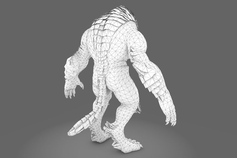 Fantasy karaktär typ 1 royalty-free 3d model - Preview no. 10