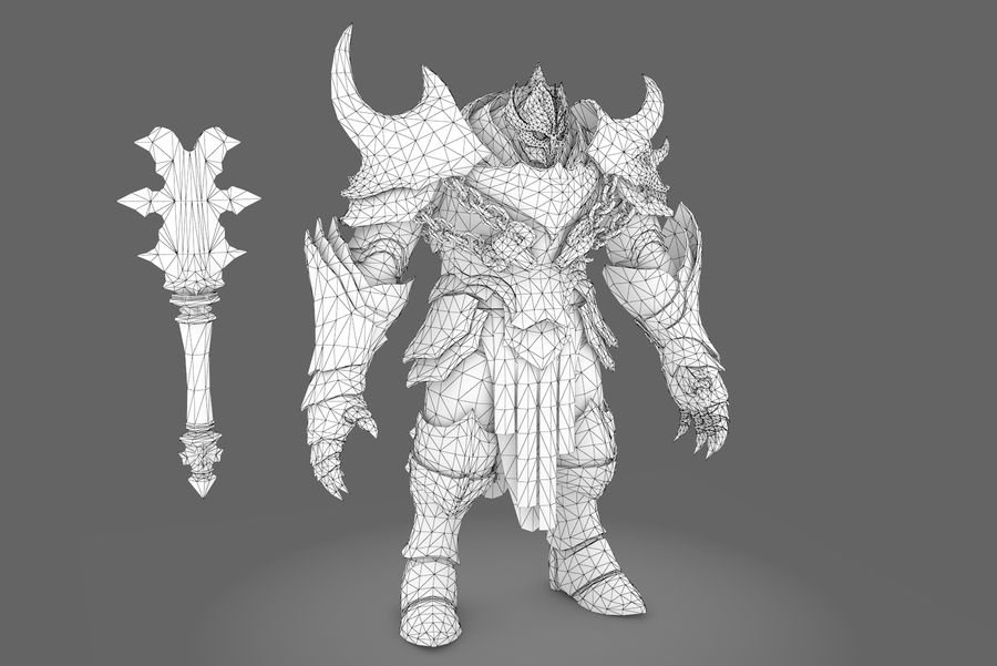 Fantasy character type 2 royalty-free 3d model - Preview no. 7