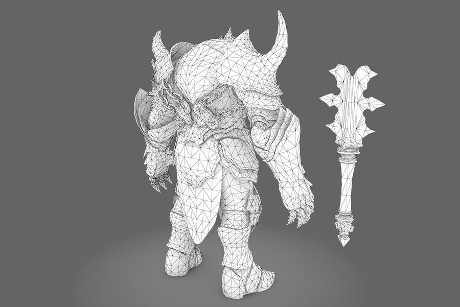 Fantasy character type 2 royalty-free 3d model - Preview no. 4