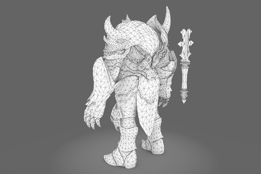 Fantasy character type 2 royalty-free 3d model - Preview no. 3