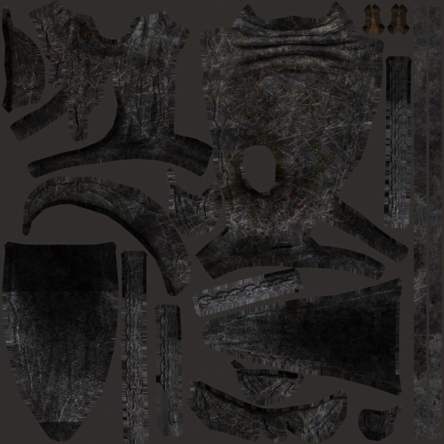Fantasy character type 2 royalty-free 3d model - Preview no. 19