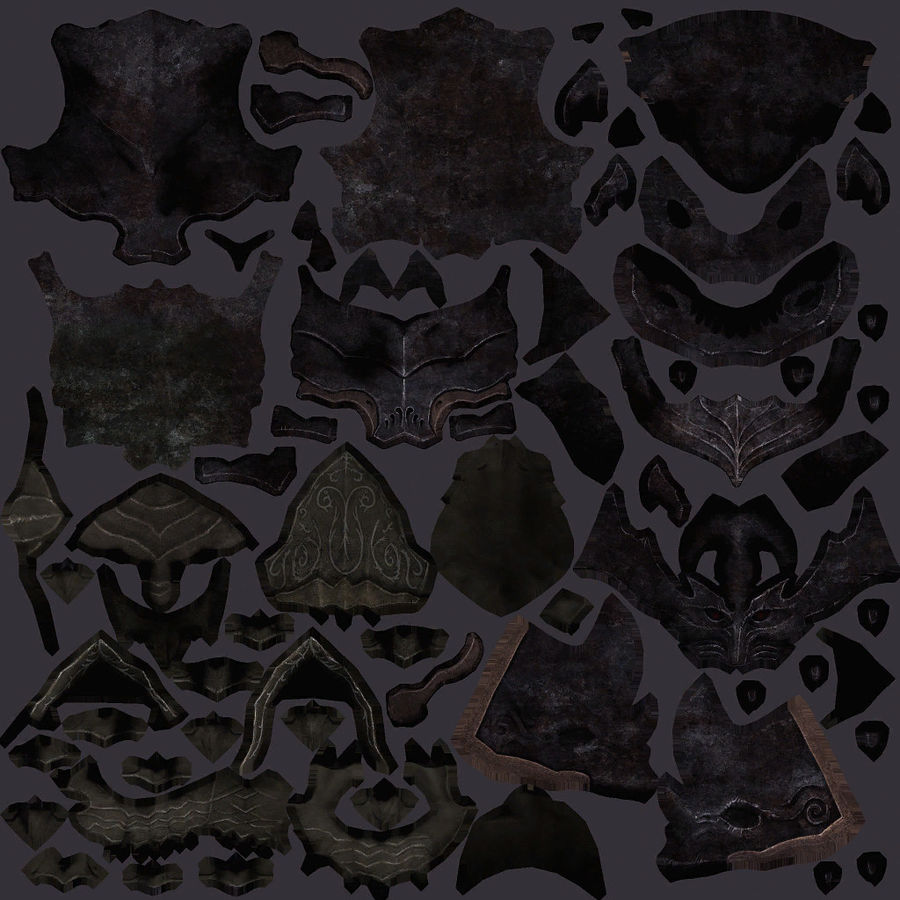Fantasy character type 2 royalty-free 3d model - Preview no. 15
