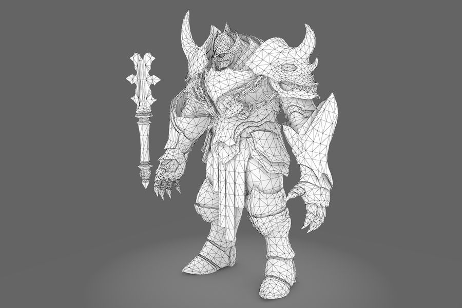 Fantasy character type 2 royalty-free 3d model - Preview no. 8