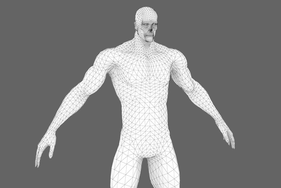 Game character type P royalty-free 3d model - Preview no. 11