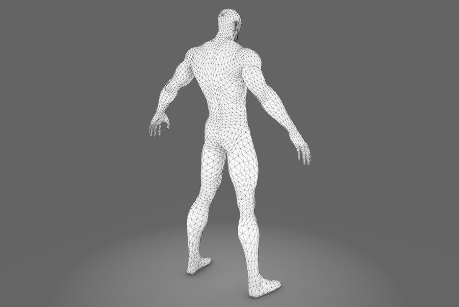 Game character type P royalty-free 3d model - Preview no. 10