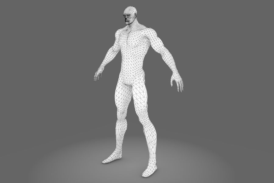 Game character type P royalty-free 3d model - Preview no. 8