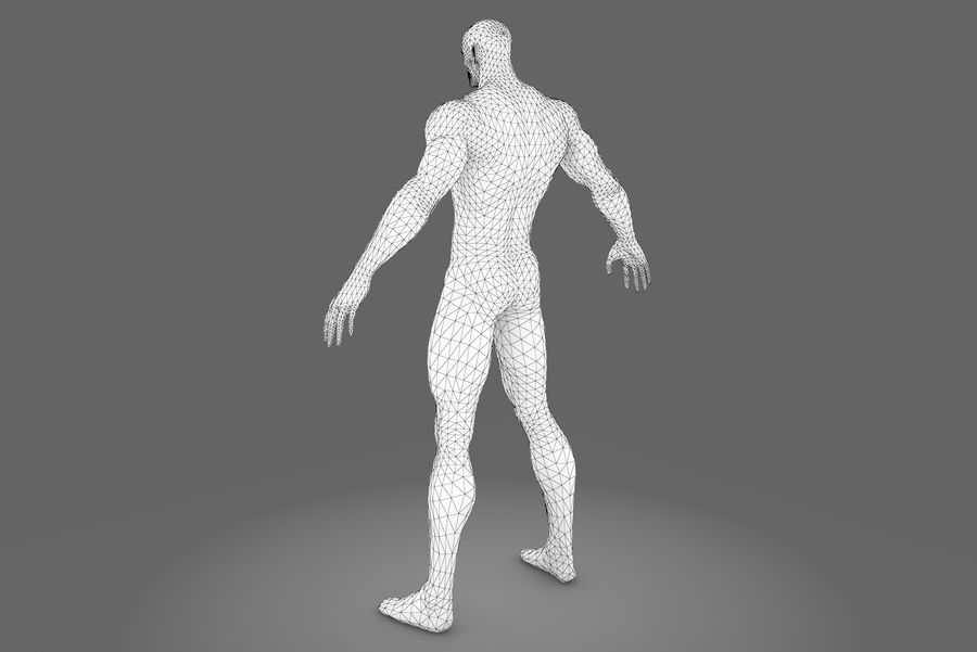Game character type P royalty-free 3d model - Preview no. 9