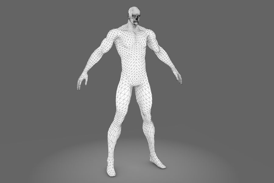 Game character type P royalty-free 3d model - Preview no. 7
