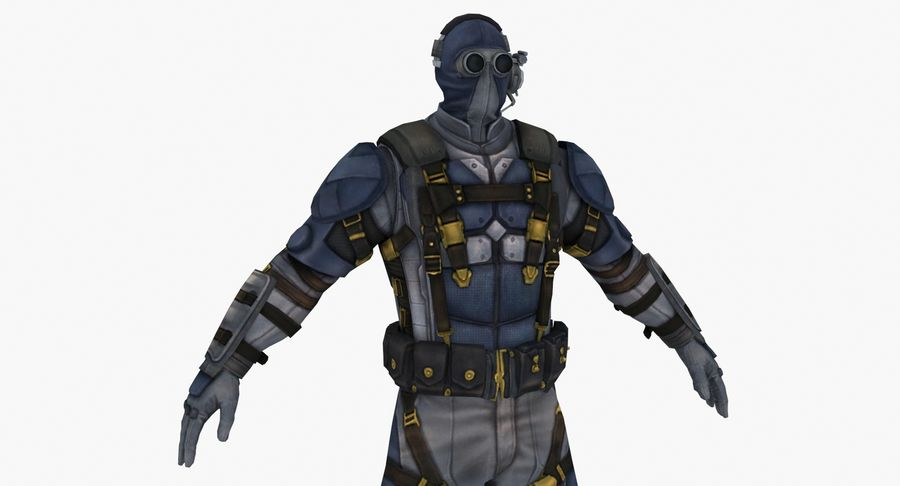 Sci Fi Soldier type 2 royalty-free 3d model - Preview no. 6