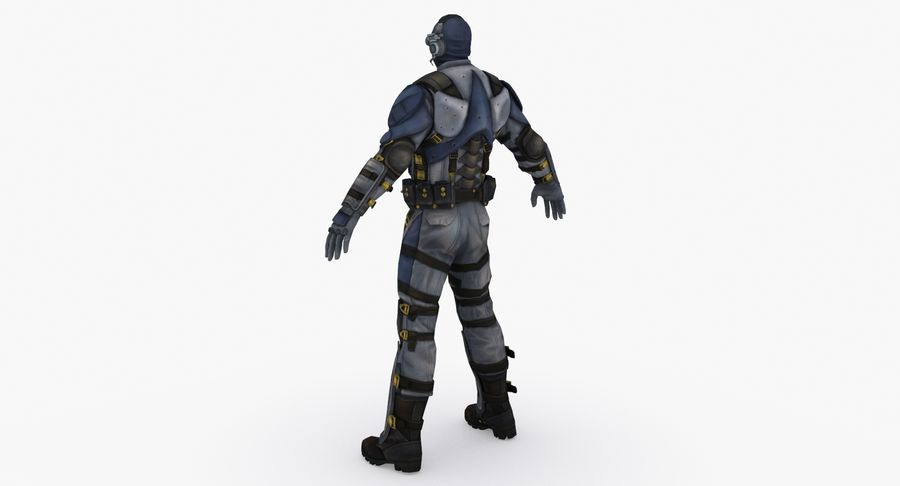 Sci Fi Soldier type 2 royalty-free 3d model - Preview no. 4