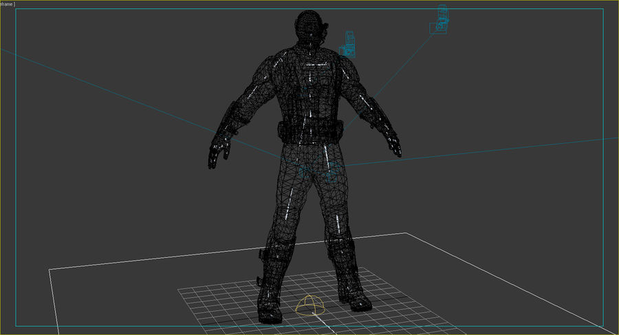 Sci Fi Soldier type 2 royalty-free 3d model - Preview no. 7