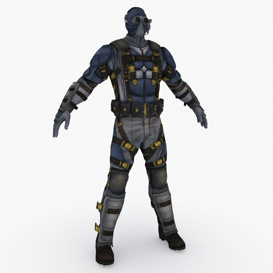 Sci Fi Soldier type 2 royalty-free 3d model - Preview no. 1