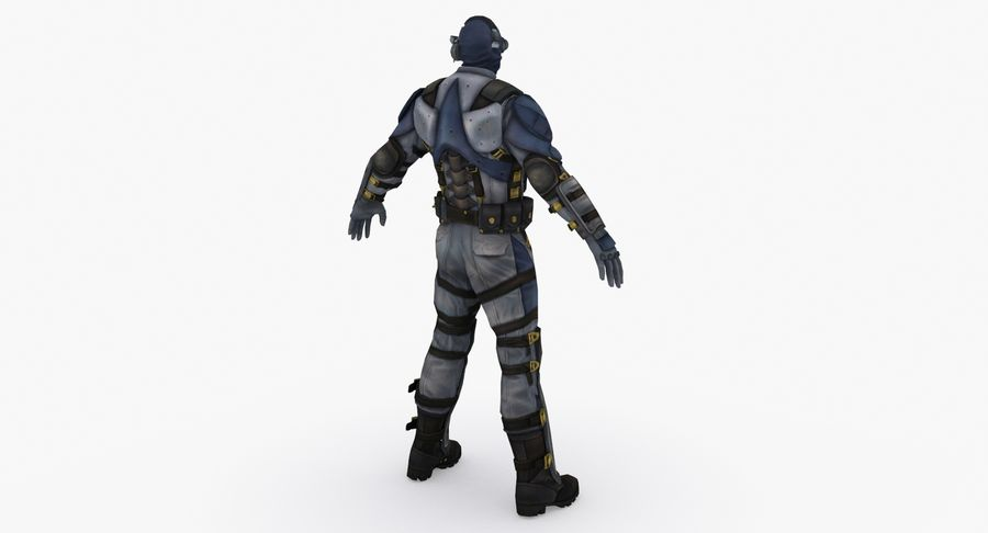 Sci Fi Soldier type 2 royalty-free 3d model - Preview no. 5