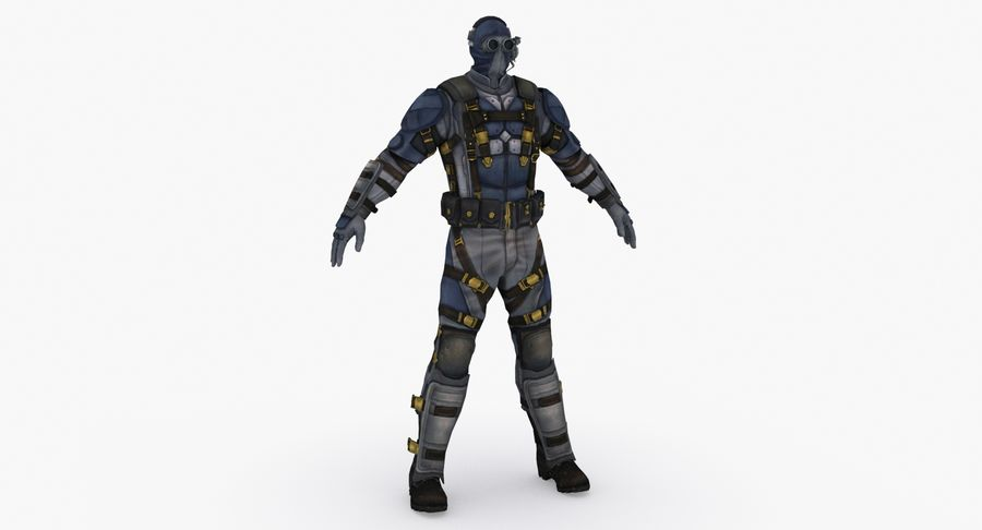 Sci Fi Soldier type 2 royalty-free 3d model - Preview no. 2