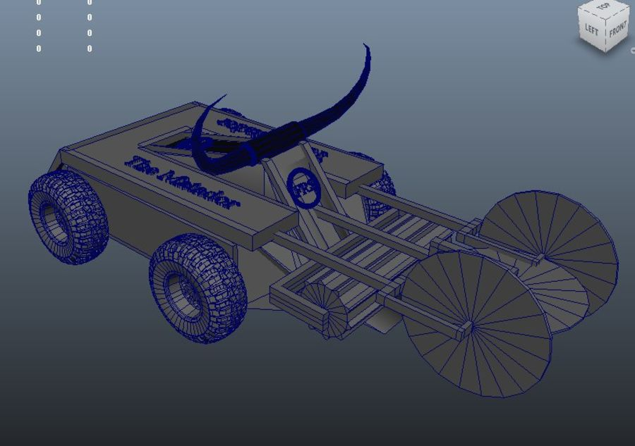 Matador savaş robotu royalty-free 3d model - Preview no. 9